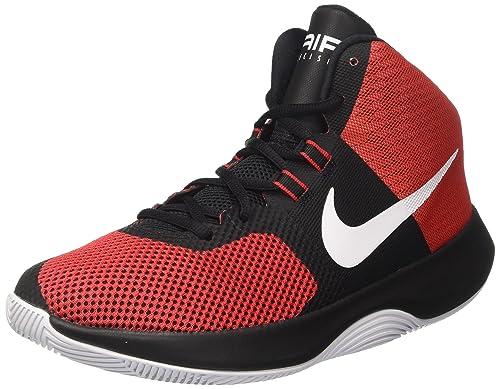 outlet store dc4e0 79cac Nike Mens RedBlack Air Precision Basketball Shoes (11 UKINDIA)
