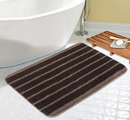 Saral Home Premium Quality Soft Microfiber Bathmat- 50x80 cm, Brown