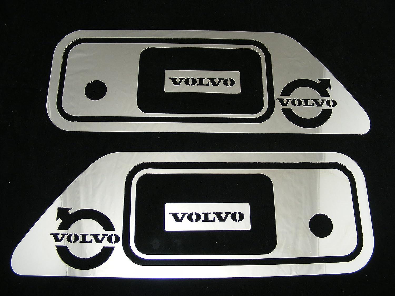 2 paneles decorativos de acero inoxidable pulido con efecto espejo Para la puerta de los camiones series FH/FM/FL MD016