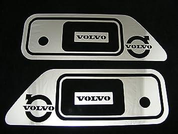 2 piezas de decoración de acero inoxidable para paneles de puertas de camiones
