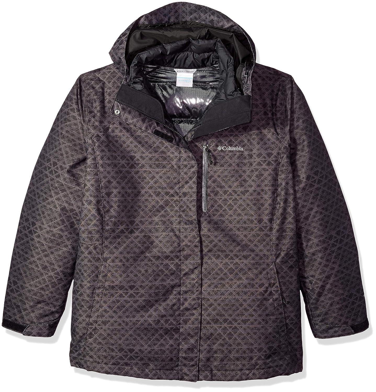 Black Diamonds Print Columbia Whirlibird Iii Plus Size Interchange Jacket