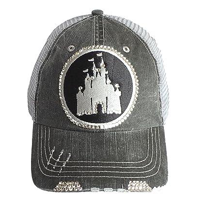 Amazon.com  ELIVATA Womens Disney Castle Fitted Trucker Baseball Cap ... e2d221aaccfb