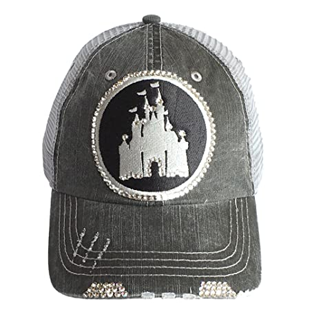 Image Unavailable. Image not available for. Color  ELIVATA Womens Disney  Castle Fitted Trucker ... 5cd19cb93be