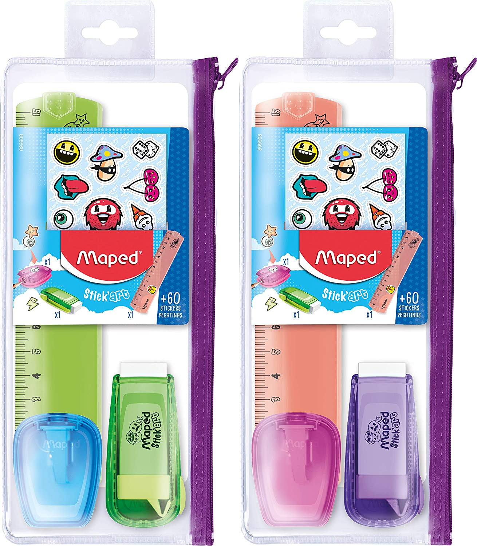 Maped - Estuche con lápiz, transparente: Amazon.es: Juguetes y juegos