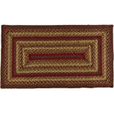 "IHF Home Decor Braided Rug Rectangle Area Floor Carpet 20"" x 30"" Country Style Cinnamon Design Jute Fiber"