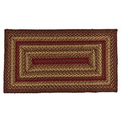 IHF HOME DECOR New 3' X 5' Rectangle Area Floor Carpet Braided Rug CINNAMON DESIGN Jute Fabric