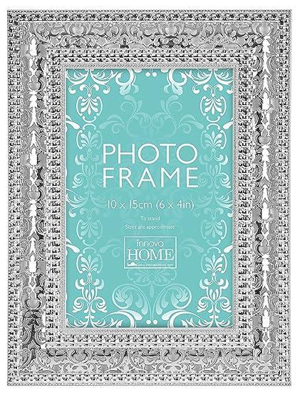 Innova pm07417 Zara, Marco de Fotos, Metal, Plata 10,0 x 15