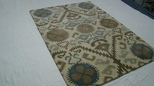Hand Tufted abstract design Wool Area Rug 5ft-6in X 8ft-6in