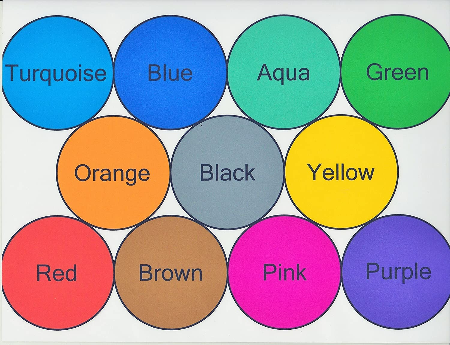 Color Chart With Names For Kids Images - Free Any Chart Examples