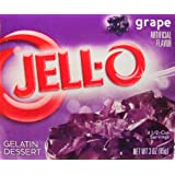 JELL-O Jello Gelatin Dessert 3 Ounce Boxes Pack of 4 (Grape)