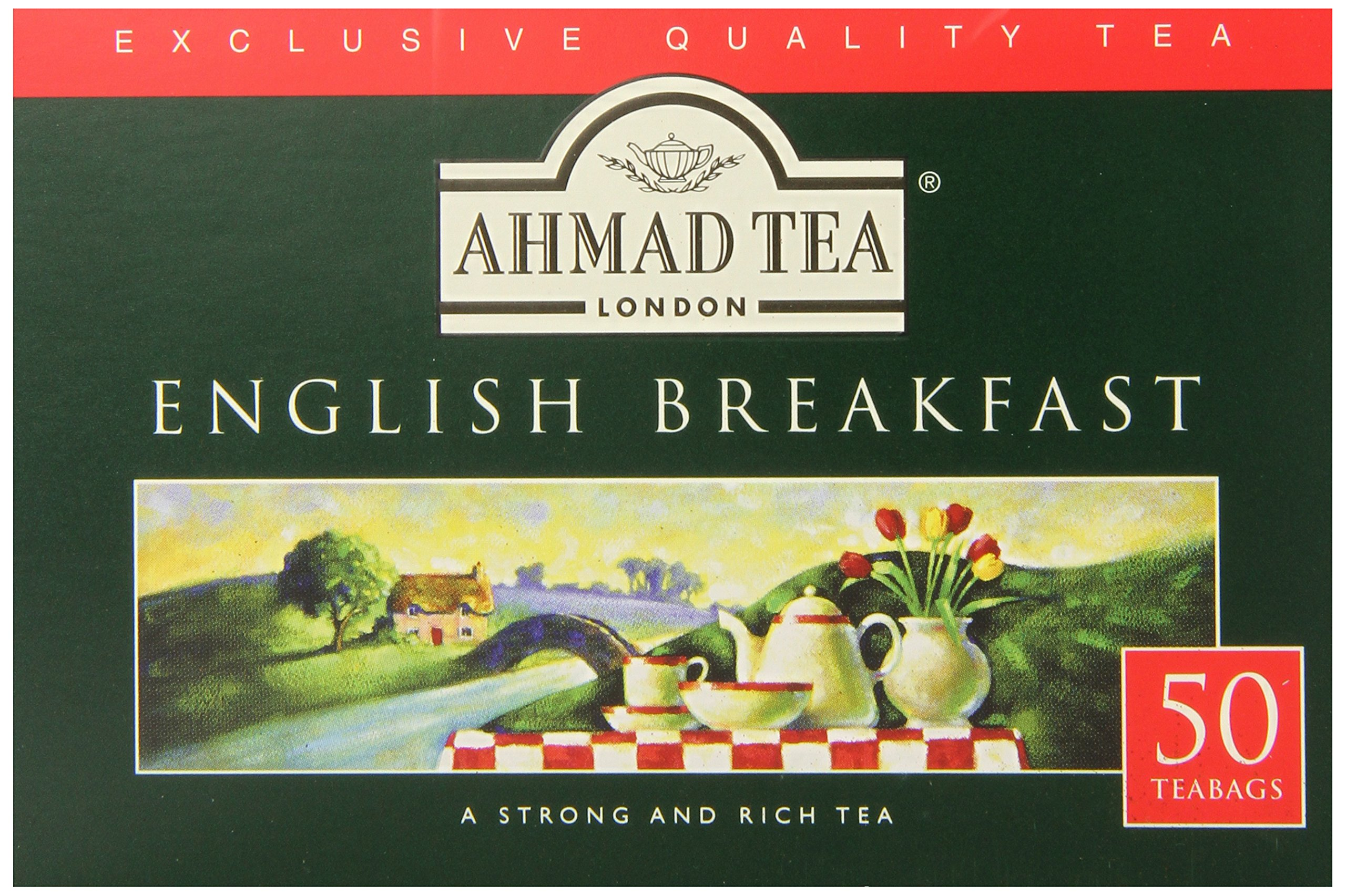 Ahmad Tea English Breakfast Teabag, 50 Count (Pack of 12)