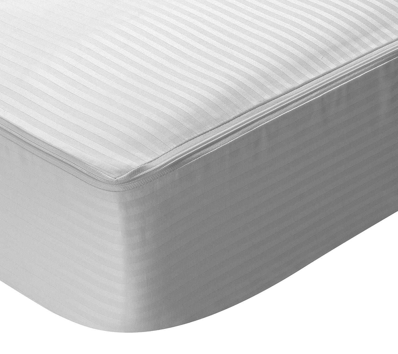 Pikolin Home – Coprimaterasso con cerniera in tessuto fasciato, 100% cotone, 180 x 200 cm, Letto da  180, Letto da  180. Tutte le misure Prezzi offerte