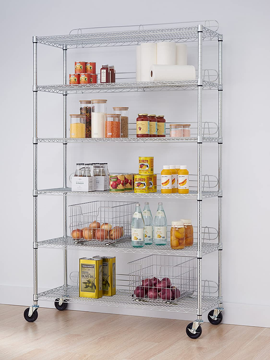 Amazon.com: TRINITY EcoStorage 6-Tier NSF Wire Shelving Rack with ...