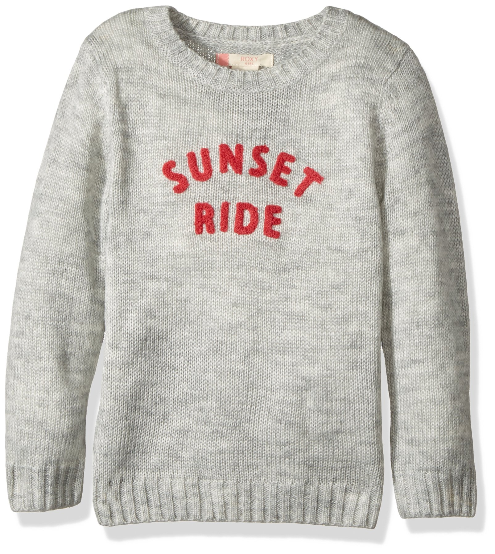 Roxy Girls' Little Daisy Tales Sweater, Heritage Heather 7 by Roxy (Image #1)