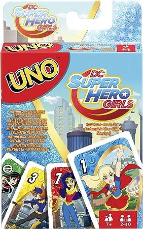 Mattel Juegos fdj16 - Uno DC Superhero Girls, Tarjeta Juegos ...