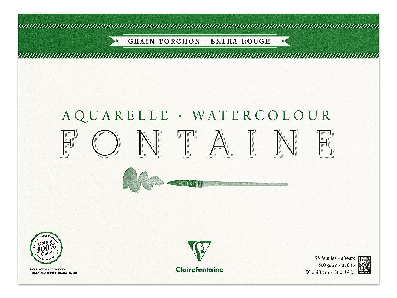 Clairefontaine 96438C Blocco di Carta Incollato a 4 Lati, 40 x 20 cm, 15 Fogli, Bianco C Rhodia Jardinage