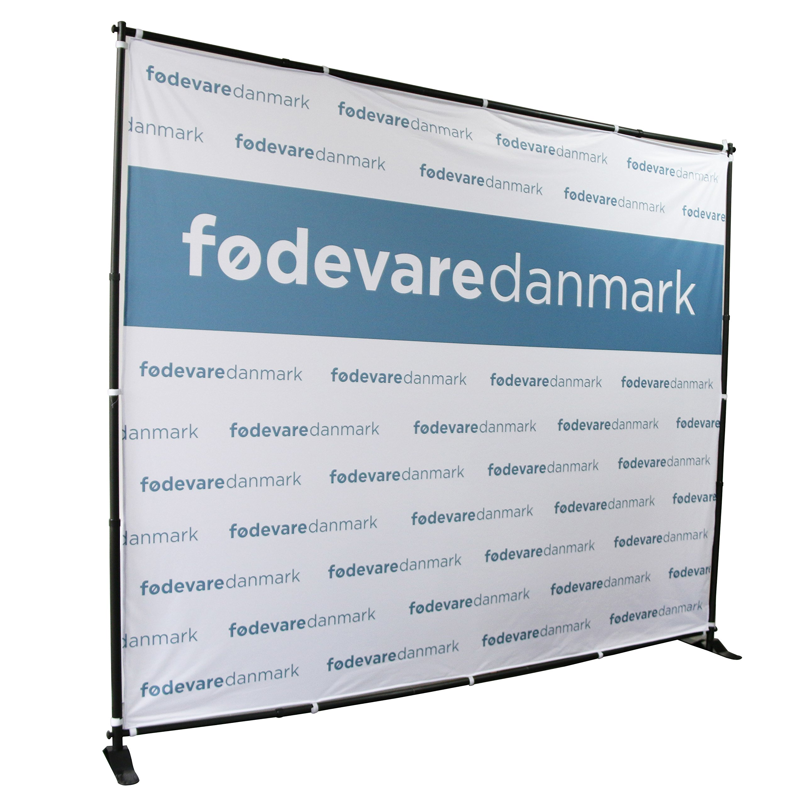 Displayfactory USA 8'x8' Professional Backdrop Banner Stand Large Tube Heavy Duty Telescopic Step and Repeat for Photo Booth Background and Trade Show with Carrying Bag