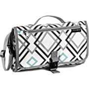 Portable Baby Changing Mat - Large Waterproof Diaper Changing Station - Padded Travel Pad with Head Cushion, 3 Pockets, Multi-Color