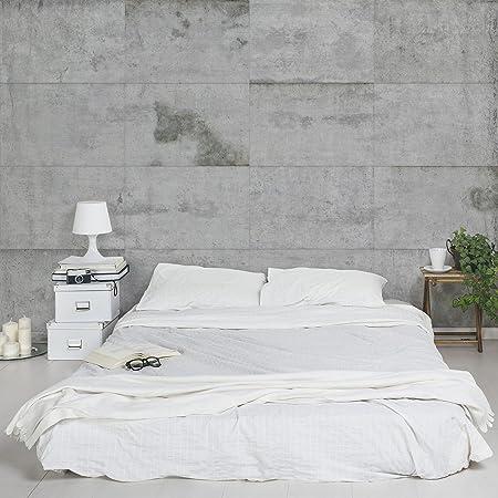 APALIS Concrete Look Non-Woven Wallpaper Large Concrete Slabs Photographic Wide Fleece Photo Wallpaper Wall & APALIS Concrete Look Non-Woven Wallpaper Large Concrete Slabs ...