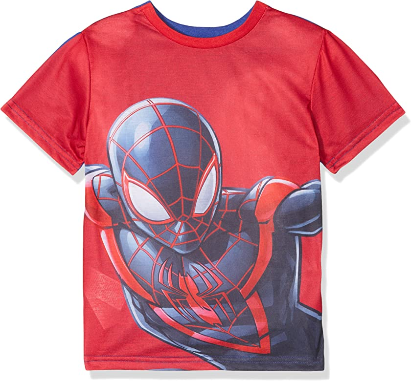Marvel Spiderman Reversible Camiseta, Azul (Blue 19-3952 TC), 6 ...