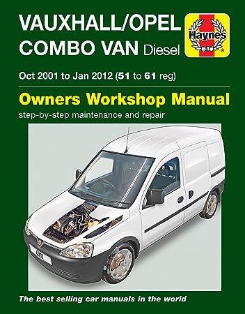 vauxhall opel combo van diesel 2001 to jan 2012 haynes manual 6362 rh amazon co uk vauxhall combo manual 2014 vauxhall combo manual 2008