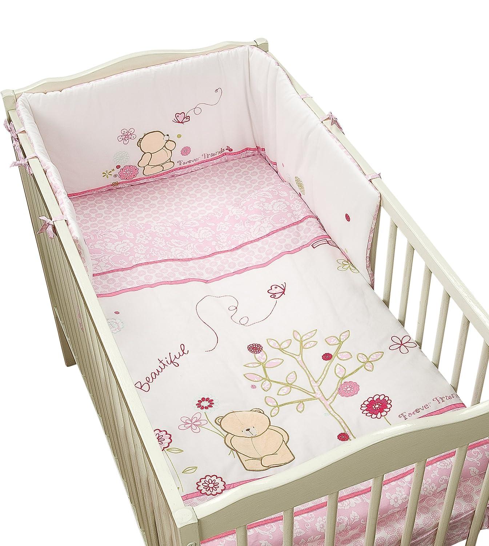Bebé Nursery Forever Friends Rosa 100% algodón 5 piezas ropa de cama Bale Set: Amazon.es: Bebé