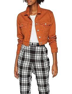 Contrast Look New Blouson Femme Crop BEUqxH