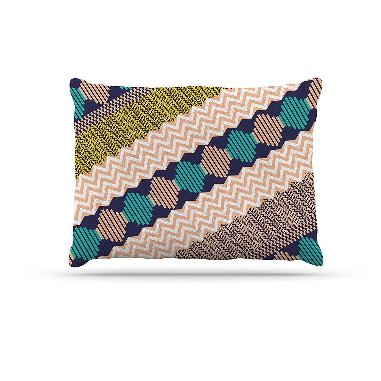 KESS InHouse Akwaflorell Knitted 3  Coral Teal Pattern Dog Bed, 30  x 40