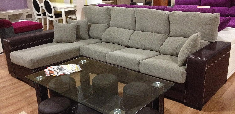MUEBLES MATO - Sofa cheslong Cuarzo izq. Marron y Beige ...