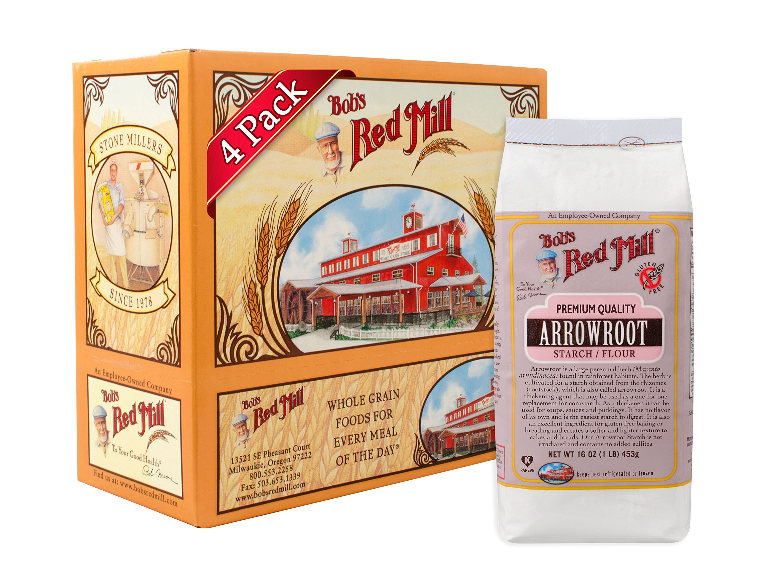 Bob's Red Mill Arrowroot Starch/Flour, 16-ounce (Pack of 4)