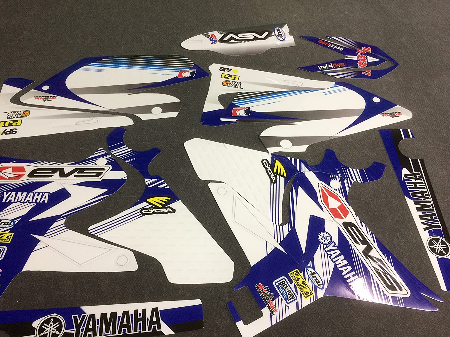 N 283 YAMAHA UFO RESTYLE YZ 125-250 96-14 DECALS STICKERS GRAPHICS KIT