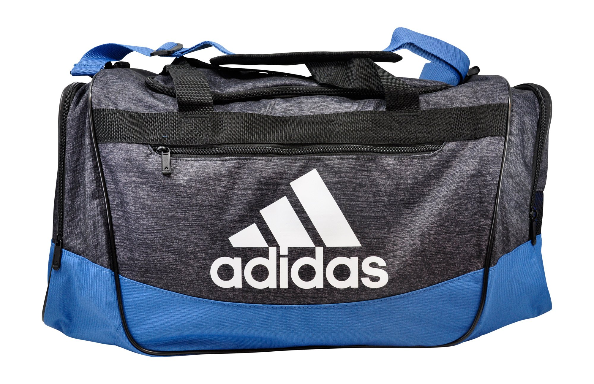 adidas Defender III Duffel Bag, Black Jersey/Trace Royal/Black/White, Medium