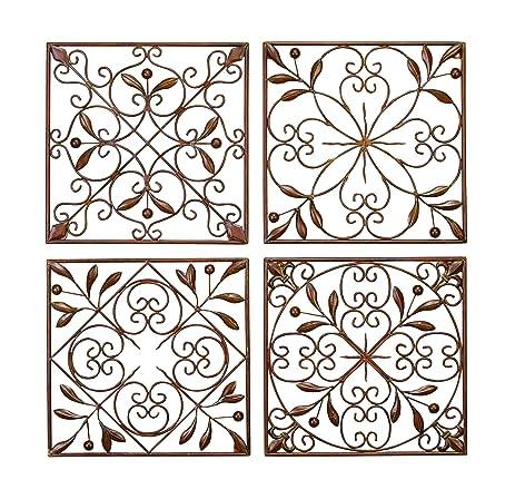Amazon.com: Deco 79 50035 Metal Wall Decor Set of 4: Home & Kitchen