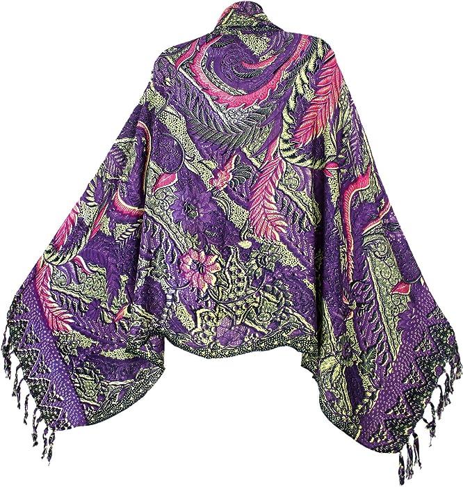 195b5e05fed Amazon.com  Traditional Balinese Batik Print Sarong with Fringe ...