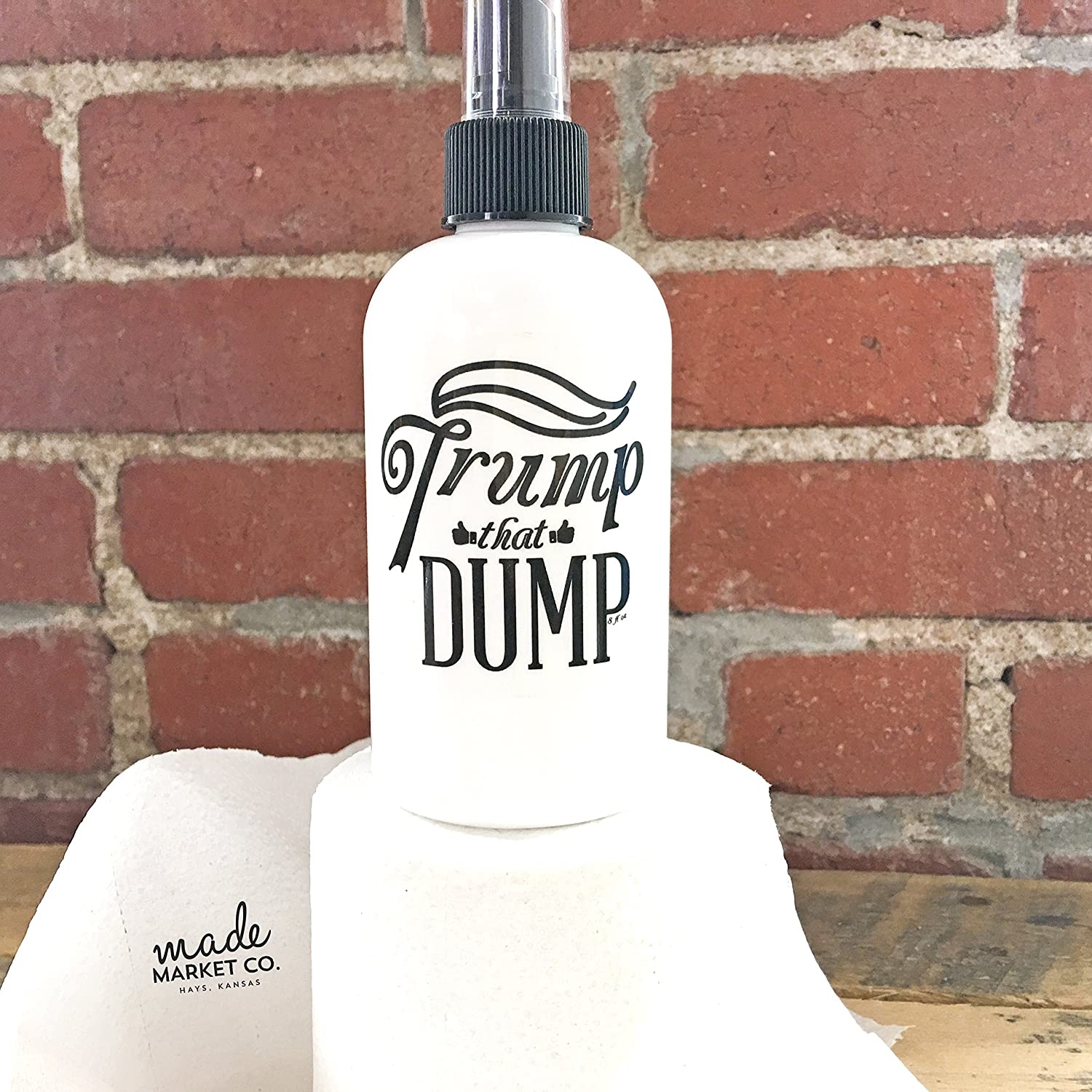 Trump That Dump Poop Spray | Bathroom Mist. Donald Trump. Gag Gift Office Party Christmas Funny Hilarious Man Cave Gift. Clean Scent.