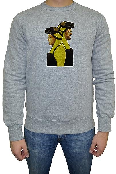 Breaking Bad Walter Grey Heisenberg Jesse Pinkman Hombre Sudadera Jersey Pullover Gris Todos Los Tamaños |