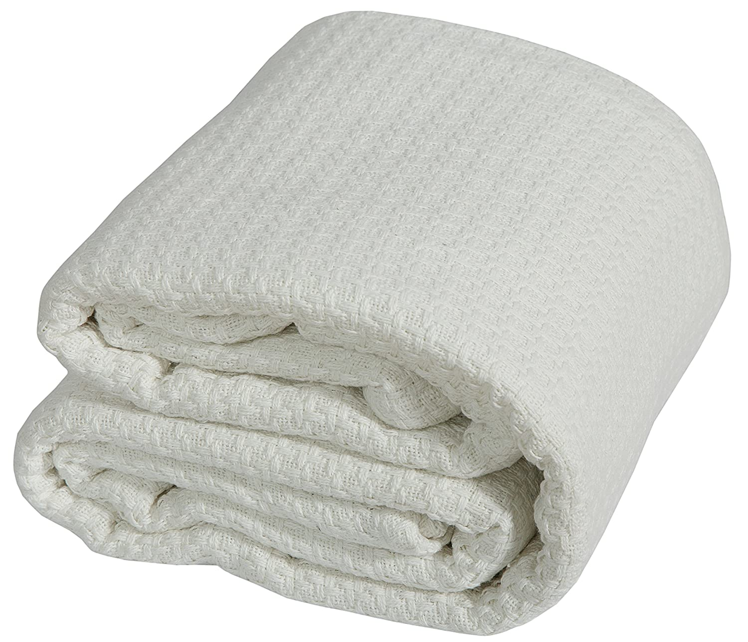 100% Soft Premium COMBED Cotton - Queen Ivory - Thermal Blanket - Snuggle in these Super Soft Cozy Cotton Blankets - Perfect for layering any Bed - Provides Comfort and Warmth by TEX TREND