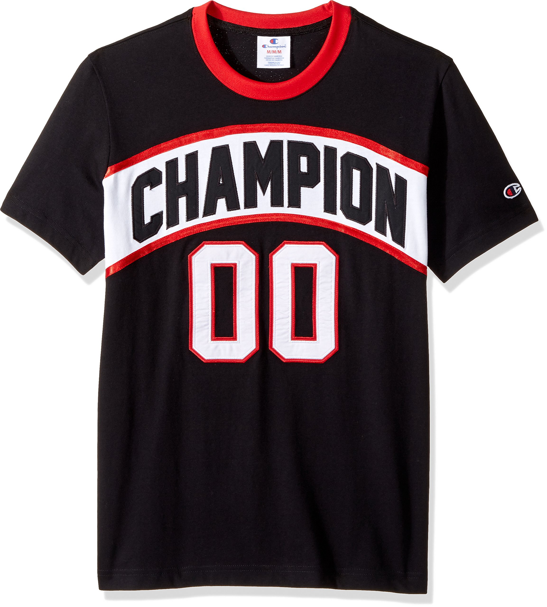 Champion LIFE Men's Crew Neck Basketball Tee (Limited Edition), Black, Large