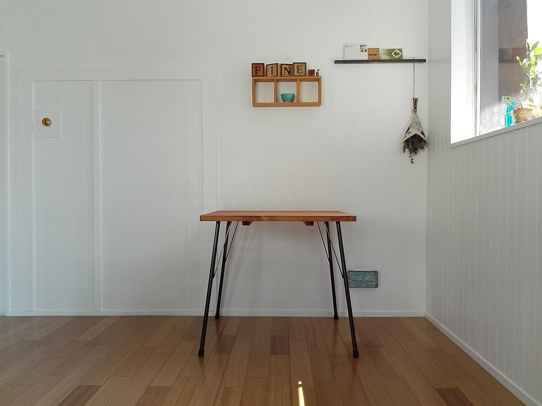 ハンドメイド アイアンテーブル70x80鉄脚 カフェスタイル (ダークブラウン) B01LWJDIETダークブラウン