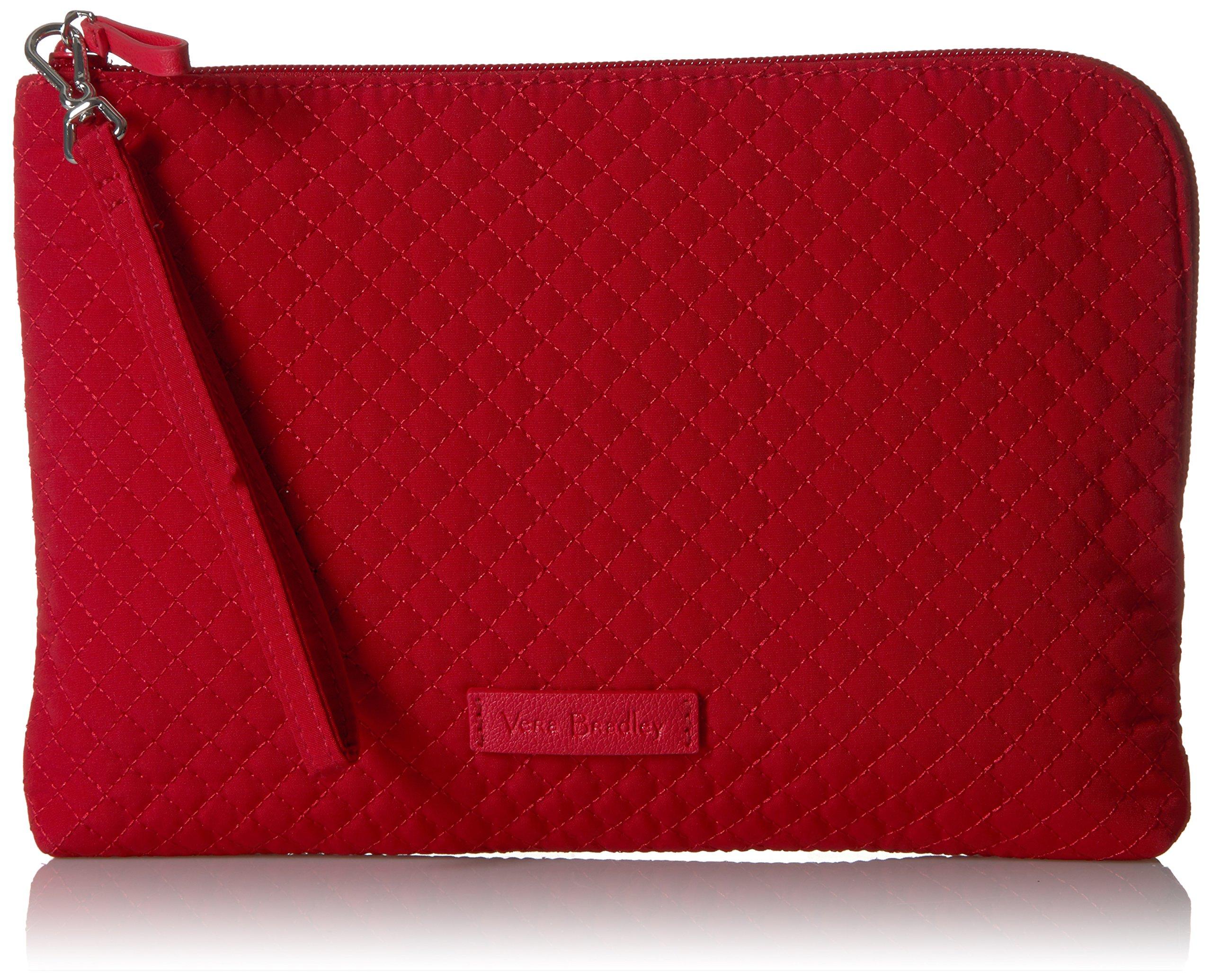 Vera Bradley Iconic Rfid Wristlet Vera, Cardinal Red