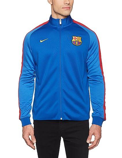 Nike FCB Auth N98 Chaqueta Línea F.C. Barcelona, Hombre, Azul (Sport Royal/