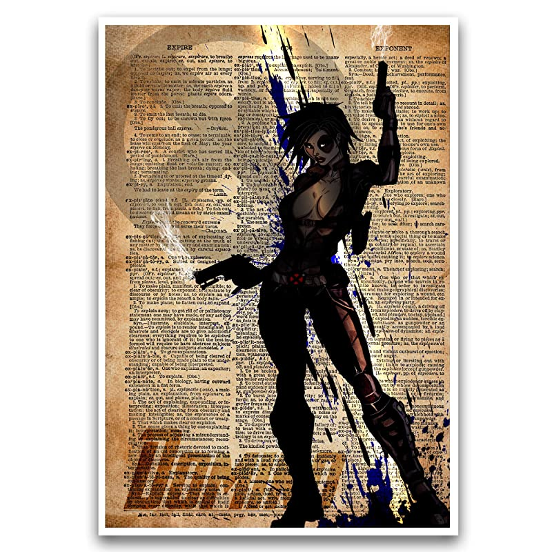 POP culture poster00507 Art print on Dictionary page SUPERHEROES