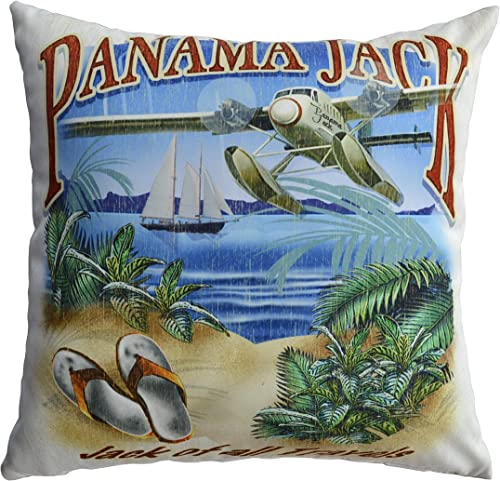 Panama Jack of All Travels Throw Pillows Set of 2