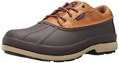 Skechers For Work Men's Robards Moorcroft Rain Shoe, Brown, ...
