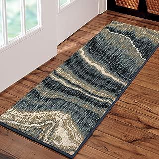 "product image for Orian Impressionist Stone Area Rug, 1'10"" x 5', Indigo"