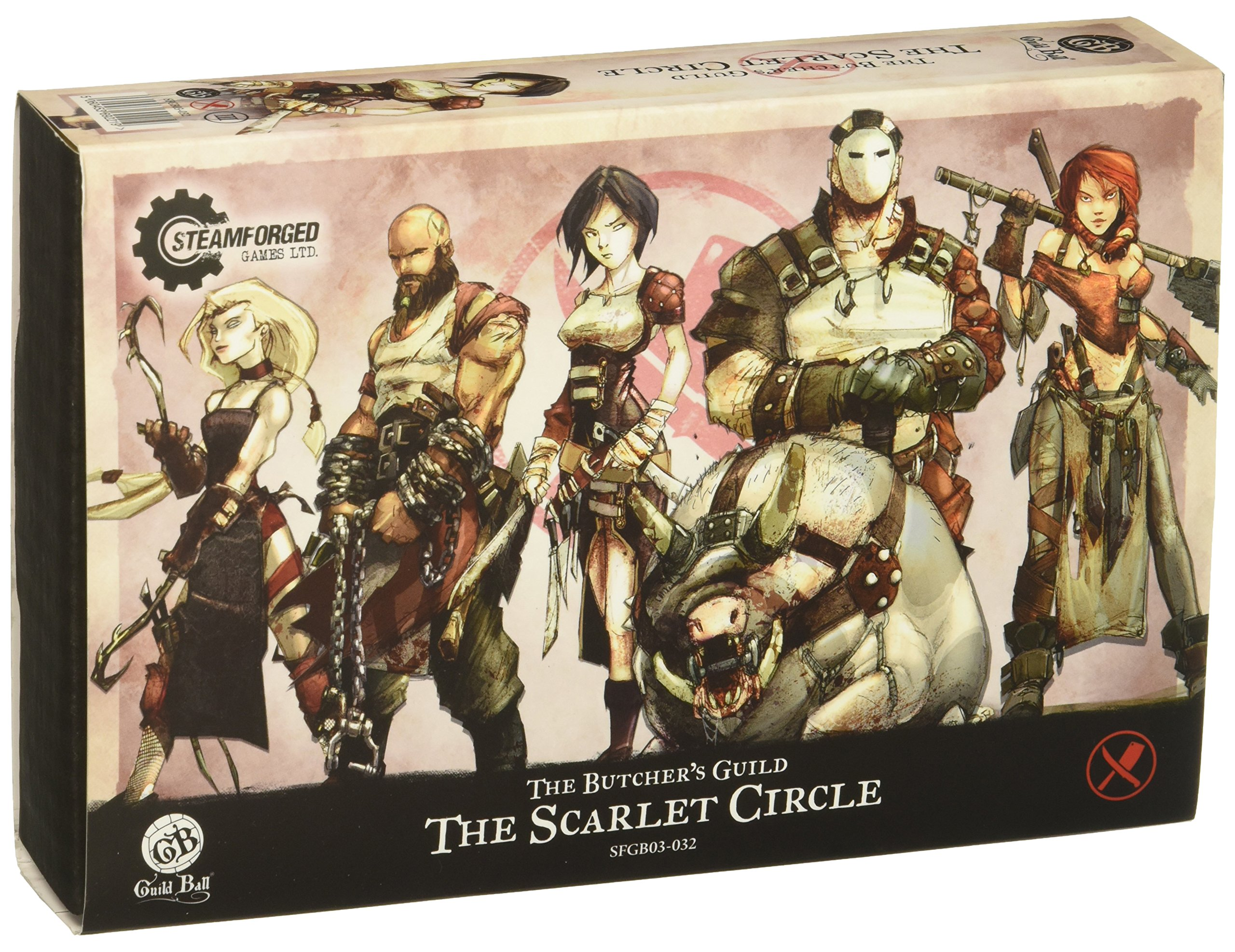 Steamfoged Games Guild Ball: Butcher Scarlet Circle Miniature Game Figure