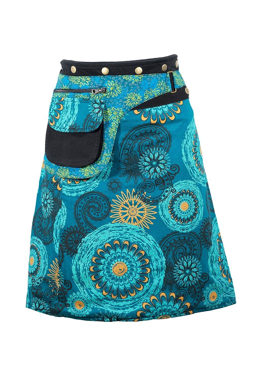 Bunter Wickelrock in herrlich fröhliche Sommer Farben - Hippie Chic -  Knielang - ZEA  Amazon.de  Bekleidung fc0954ff34