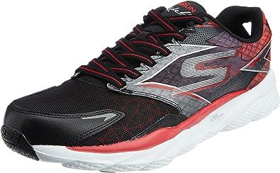 Skechers Go Run Ride 4, Zapatillas de Deporte Hombre, Negro/Rojo ...