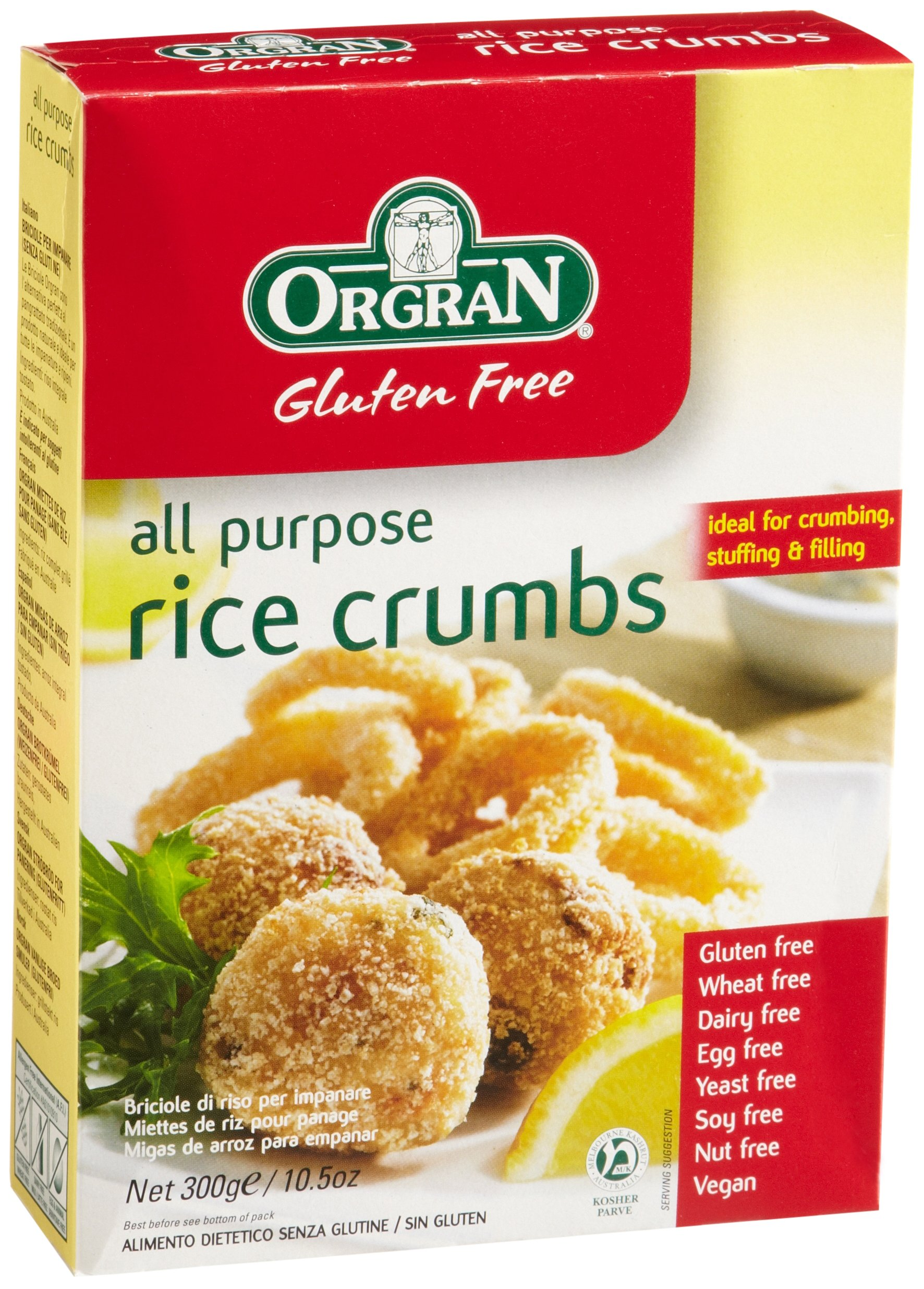 OrgraN All Purpose Rice Crumbs, 10.5-Ounce Boxes (Pack of 8) by Orgran (Image #2)