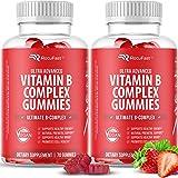 Vitamin B Gummies (2-Pack, 140 Gummies) - Potent Vitamin B Complex with Vitamin B12, Vitamin B6, Vitamin C, Niacin, Folate, a